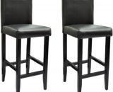 Tabourets de bar style chicago noir - Lot de 2 240071FR
