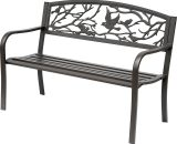 Outsunny Banc 3 places de jardin style rural chic brun 3662970046937 84B-185BN