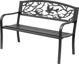 Outsunny Banc 3 places de jardin style rural chic noir 3662970023228 84B-185BK