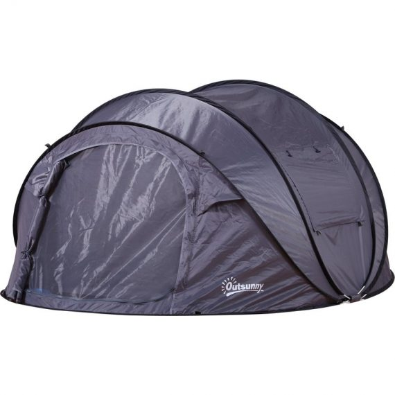 Outsunny Tente de camping pop-up 3-4 personnes noir 3662970062951 A20-127